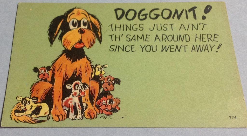 Vintage Doggonit Comic Post Card
