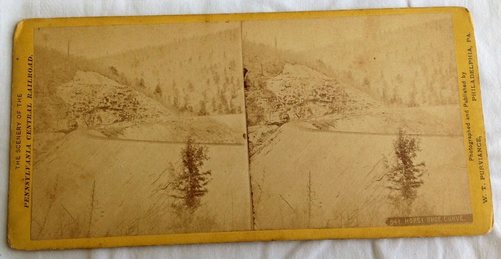 1871 Stereo Photography Stereo View Card Pennsylvania Central Railroad