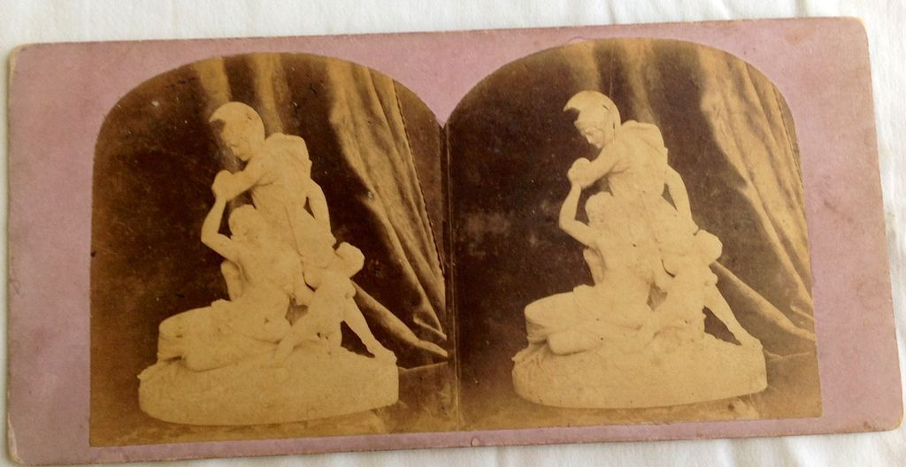 1866 Lobe Restraining Wrath Stereo-Photography Stereo View Card