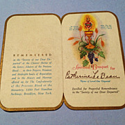 Vintage Catholic Prayer Card