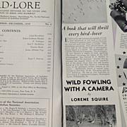 November - December 1938 Bird Lore