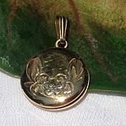 Vintage 12K Gold Filled Double Photo Locket
