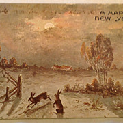 1908 A Happy New Year Post Card