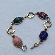 Vintage Gold Filled Scarab Bracelet