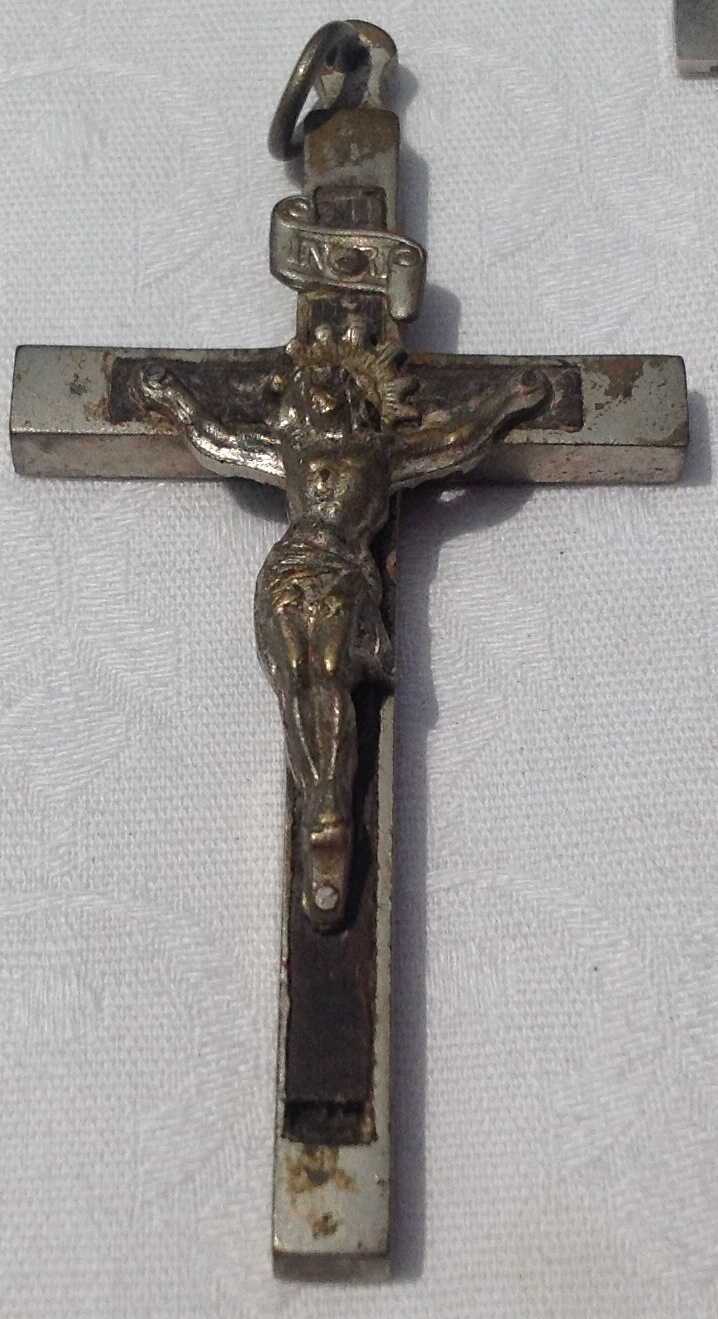 Vintage Ebony INRI Priest Nun Crucifix