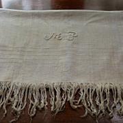 """Vintage Home Spun Fringed Towel 50"""" X 30"""""""