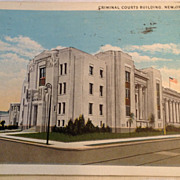 1935 Criminal Court's Building New Orleans La. Post Card