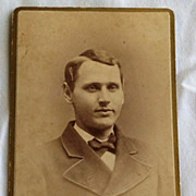 Vintage Photo Cabinet Card Gentleman
