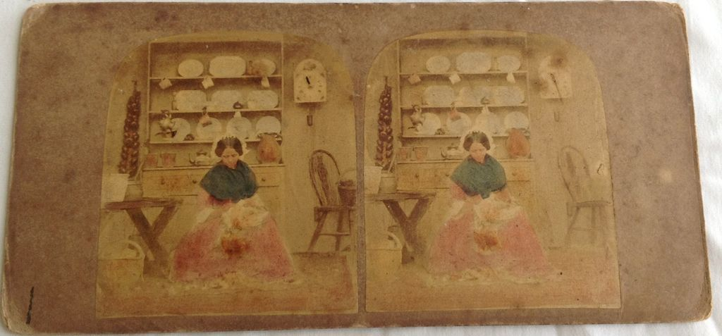 1865 Stereo View Stereo Photography Card