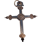 Victorian Gold Filled Religious Two Sided Cross