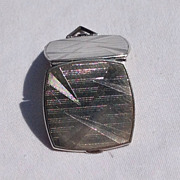 Art Deco Sterling Silver Double Photo Locket