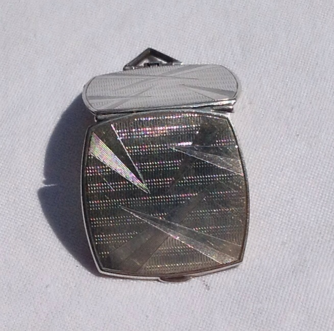 SALE PENDING Art Deco Sterling Silver Double Photo Locket