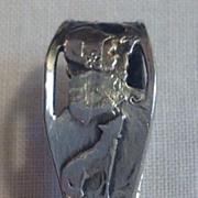 Vintage Sterling Silver Nursery Rhyme Carved Handle Baby Spoon