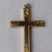 Vintage Large Gold Filled Cross