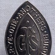 Vintage Sterling Silver Episcopal Girl's Friendly Society  Pin