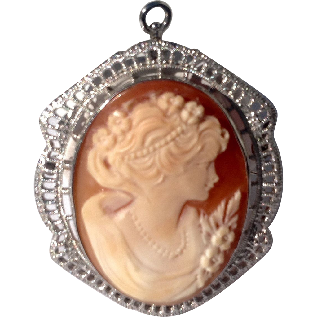 how to wear cameo pendants