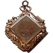 Victorian Gold Filled Double Photo Watch Fob Locket