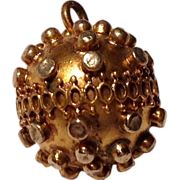 Etruscan Revival Gold Filled Watch Fob Charm