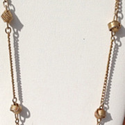 Vintage Gold Tone Metal Avon Love Knot Necklace
