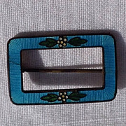 Vintage Blue Enamel Brooch/Pin