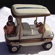 Vintage Limoges Golf Cart