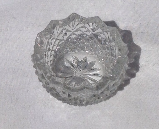 Victorian Cut Crystal Salt Dish