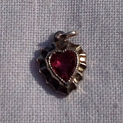 Vintage Sterling Silver Heart Shaped Pendant