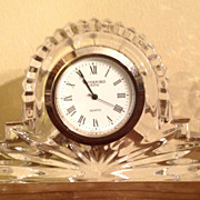 Vintage Waterford Crystal Clock