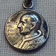 Vintage 800 Silver Pope Paul VI Medal
