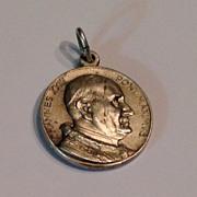 Vintage Silver Tone Metal Pope John XXIII Medal