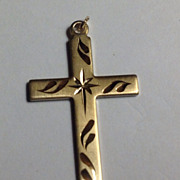 Vintage 14 K Gold Filled Cross