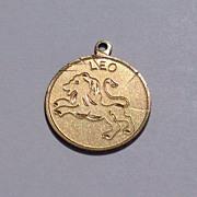 Vintage Elco 12 K Gold Filled  Leo Disk Charm