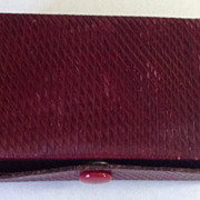 Vintage Red Leather Display Box