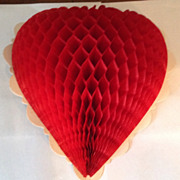 Vintage Honeycomb Valentine Heart Set Of Two