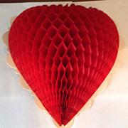 Vintage Honeycomb Valentine Heart Set Of Two
