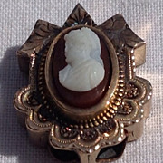 Victorian Gold Filled Cameo Slide