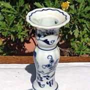 Vintage Blue Danube Candlestick