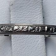 Vintage 18 K White Gold Wedding Band Ring