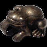 Vintage Sterling. Silver Frog Charm
