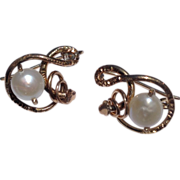 Victoria  Gold Filled Pearl Earrings