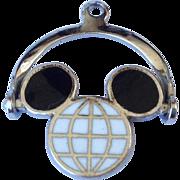 Vintage Sterling Silver Enamel Walt Disney Mickey Mouse Charm