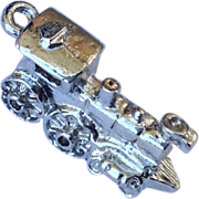 Vintage Sterling Silver Train Engine Charm