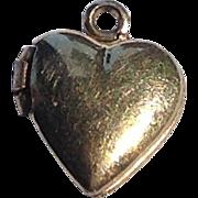 Vintage 12 K Gold  Filled  Double Photo Heart Locket