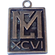 Vintage Sterling Silver 1966 M E School Charm