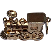 Vintage Gold Tone Steam Locomotive Charm