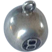 Sterling Vintage 8 Ball Charm