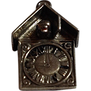 Vintage Sterling Silver Cuckoo Clock Charm