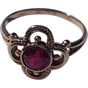 Vintage 14 K Gold Ruby Ring