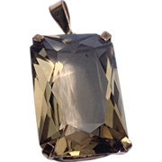 Vintage  12 K Gold Filled Citrine Pendant