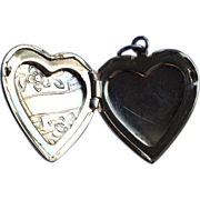 Vintage Gold Filled Heart Shape Double Photo Locket